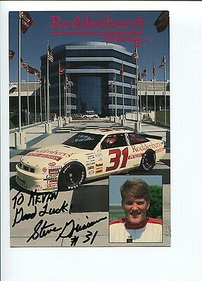 Steve Grissom NASCAR Sprint Cup Driver Racing Signed Autograph Photo