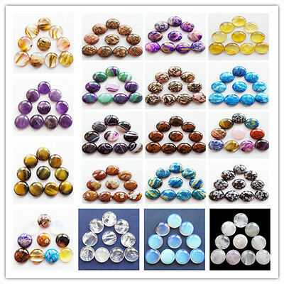 Wholesale 16x5mm Mixed Gemstone Round CAB CABOCHON Please Pick Your Stone XJ-250