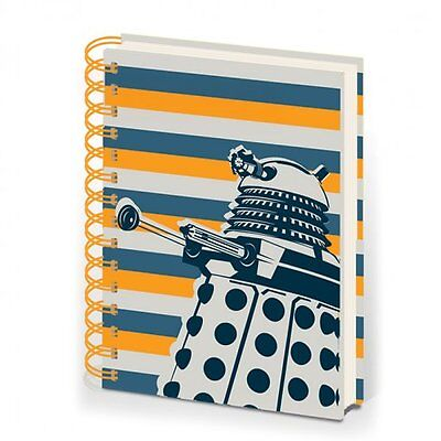 Doctor Who A5 Dalek Striped Spiral Bound Notebook Dr Who