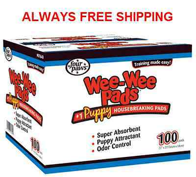 Four Paws Wee Wee Pads Dog / Puppy Training Pads - 100 Count Pack