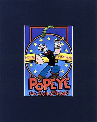 POPEYE the Sailor man 8 x 10  MAT PRINT~Strong to the Finish~SUPERHUMAN STRENGHT