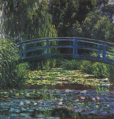 Water Lily Pond #6 by Claude Monet Giclee Fine Art Print Reproduction on Canvas