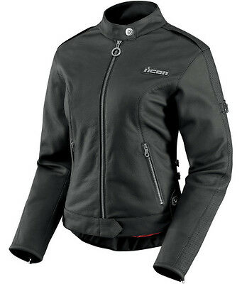 Chaqueta Para Moto Mujer Icon Hella Leather Jacket Black