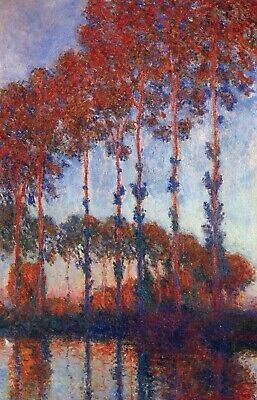 Poplars by Claude Monet Giclee Fine Art Print Reproduction on Canvas