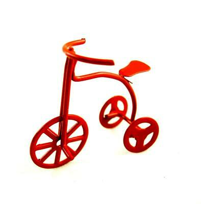 Dolls House Childs Tricycle Bike Red  Miniature 1:12 Nursery Toy Shop Accessory