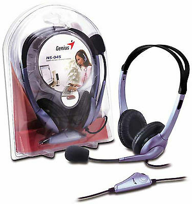 Genius HS-04S Headset and Microphone