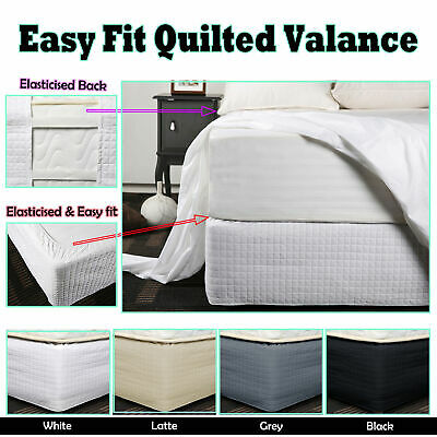 4 Color Choice - Easy Fit Quilted Valance - SINGLE King Single DOUBLE QUEEN KING