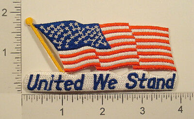 USA AMERICAN FLAG America UNITED WE STAND Patriotic Souvenir PATCH