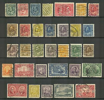 Canada # 89/157, 1903-1929 Issues - 32 Different, Cancelled / Used