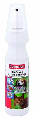 Beaphar Dog Cat  Flea Spray PUMP ACTION Cutaneous spray solution 150ml