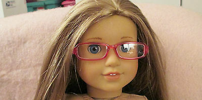 Doll Clothes Girl Pink Glasses for 18 Inch Doll American Seller lsful