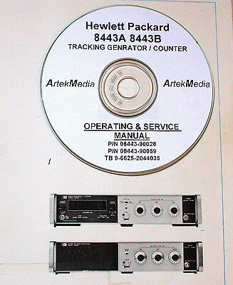 HP 8443A Tracking Generator 8443B Counter Operating & Service  Manuals (3)