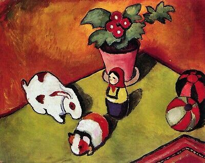 Walter Chen toys by August Macke Giclee Fine ArtPrint Reproduction on Canvas
