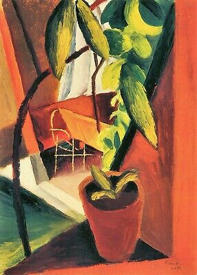 A look into summer-house by August Macke Giclee Fine Art Print Repro on Canvas