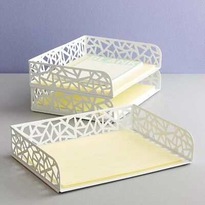 NEW White Network Letter Tray