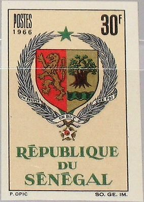 SENEGAL 1966 336 U 274 imperf Coat of Arms Wappen Staatswappen Lion & Tree MNH