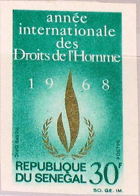 SENEGAL 1968 370 U 298 Intl. Human Rights Year Menschenrechte Flamme Flame MNH