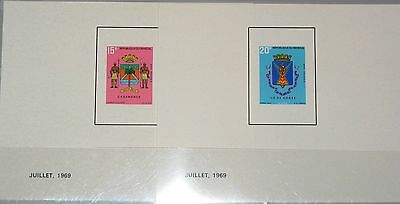 SENEGAL 1969 401-02 315-16 DELUXE PROOFS Coat of Arms Wappen Casamance MNH