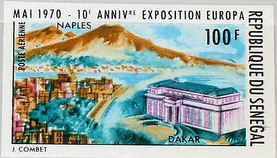 SENEGAL 1970 423 U C80 10th Europa Phil. Exhb. Naples Neapel EUROPA 70 Post MNH