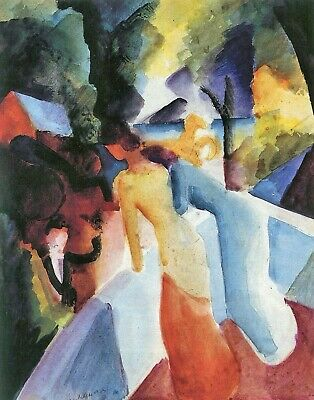 Greetings from the balcony by August Macke Giclee Fine ArtPrint Repro on Canvas