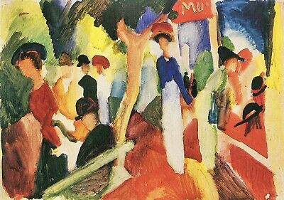 Hat shop at the promenade by August Macke Giclee Fine Art Print Repro on Canvas