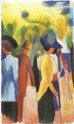 Walking under trees [2] by August Macke Giclee Fine Art Print Repro on Canvas