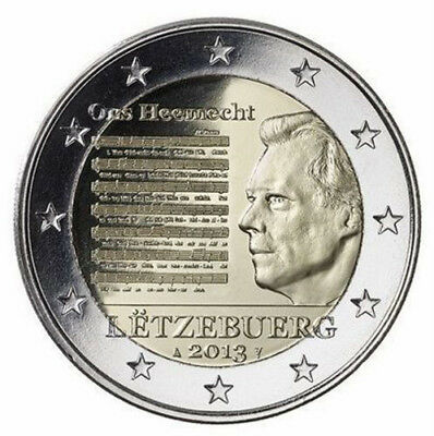 2 EURO *** Luxemburg 2013 *** Nationale Hymne National *** Luxembourg 2013 !!!!!