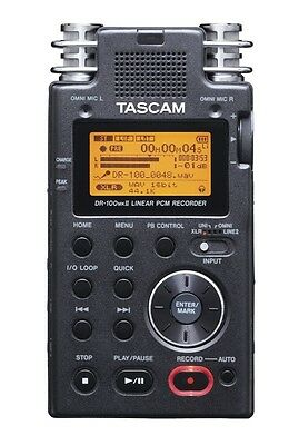 TASCAM DR-100mkII Portable Linear PCM Digital Recorder 2GB SD DR-100 mk2 WAV MP3