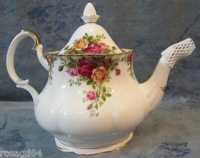 Royal Albert China Old Country Rose Large 6 Cup Lidded Tea Pot England NEW Boxed
