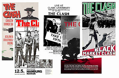 The Clash - Set Of 5 - A4 Poster Prints # 1