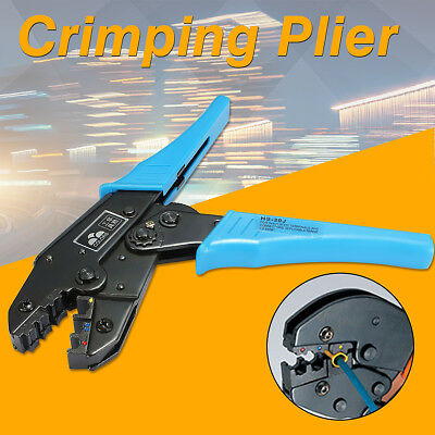 For Crimping Pliers Insulated Terminals Ratchet Tool AWG 22-10 0.5-6.0mm HS-30J
