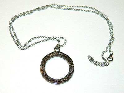 Stargate Atlantis Star Gate Metal Necklace w Dog Tag Chain- FREE S&H