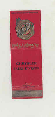 1946 Chrysler Automobile Matchbook Cover mb1694