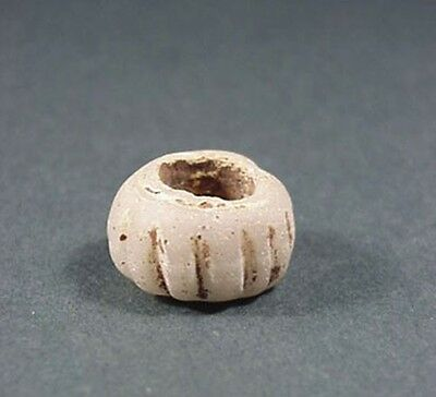 Ancient Glass Bead With Rib Design Roman 100-300 Ad