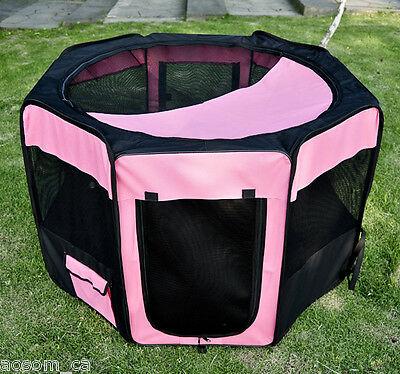"PawHut 46"" Pet Kennel Dog Fence Puppy Soft Playpen Exercise Folding Crate Oxford"