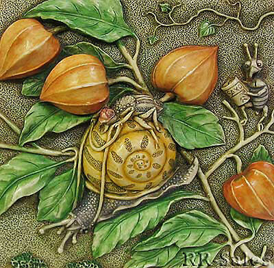 Snail Slow Downs Harmony Kingdom Byrons Secret Garden Picturesque Tile PXGD1 New