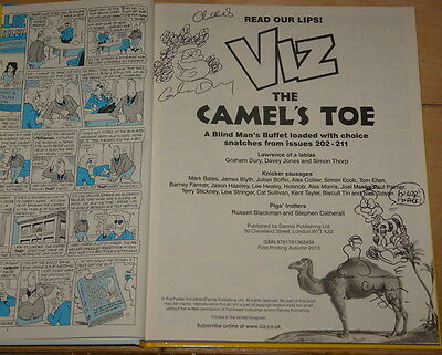 Viz Camel's Toe ~ Signed 2013 Annual ~ Tracey Fat Slag Finbarr Saunders Drawings