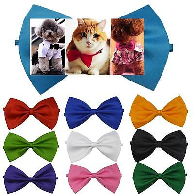 10pcs Dog Cat Pet Puppy Toy Kid Cute Bow Tie Necktie Collar Clothes 10Colors