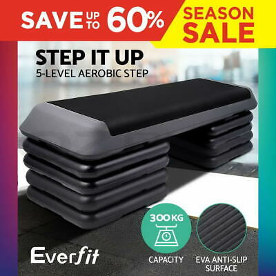 Aerobic Step Everfit Gym Fitness Workout Exercise Block 5 Level Bench Home