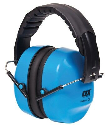 OX Tools Professional Folding Padded Head Band Ear Defenders SNR 29db,S248930