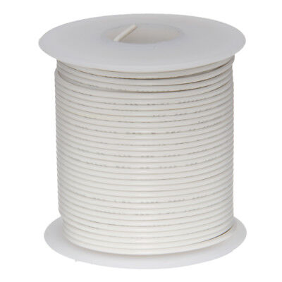"20 AWG Gauge Stranded Hook Up Wire White 100 ft 0.0320"" UL1015 600 Volts"