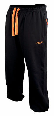 Fox NEW Carp Fishing Lightweight Black And Orange Joggers *All Sizes*