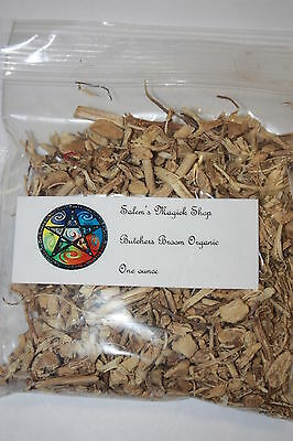 BUTCHERS BROOM ROOT Organic Herb - 1 oz wicca, witch