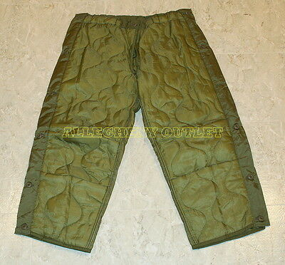 US Army Military M65 Thermal FIELD PANT TROUSER LINER OD Quilted NEW XS S M L XL