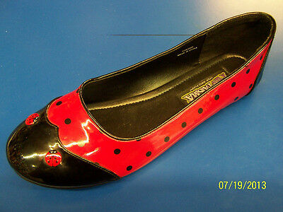 LADYBUG Shoes Animal Red Black Flats Dress Up Halloween Adult Costume Accessory
