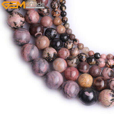 "Natural Gemstone Rhodonite Stone Loose Beads For Jewelry Making 15"" Wholesale"