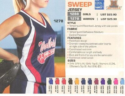 16 Softball Team Jerseys Shirts Uniforms TW1288 Wholesale $16.55/each Save $117