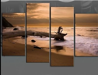 HOT!! NEW 4PC MODERN ABSTRACT HUGE ART OIL PAINTING ON CANVAS (No frame)