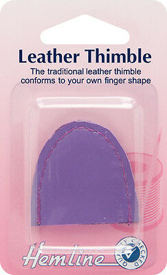 Hemline - Leather Thimble: Large Brown (not Lilac)