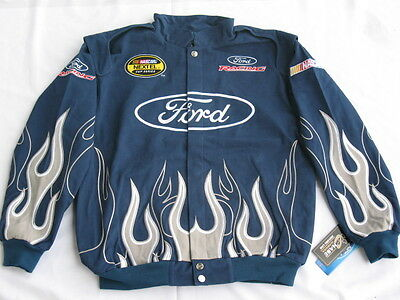 Ford Racing Cotton Twill NASCAR Jacket By Chase - Size Medium
